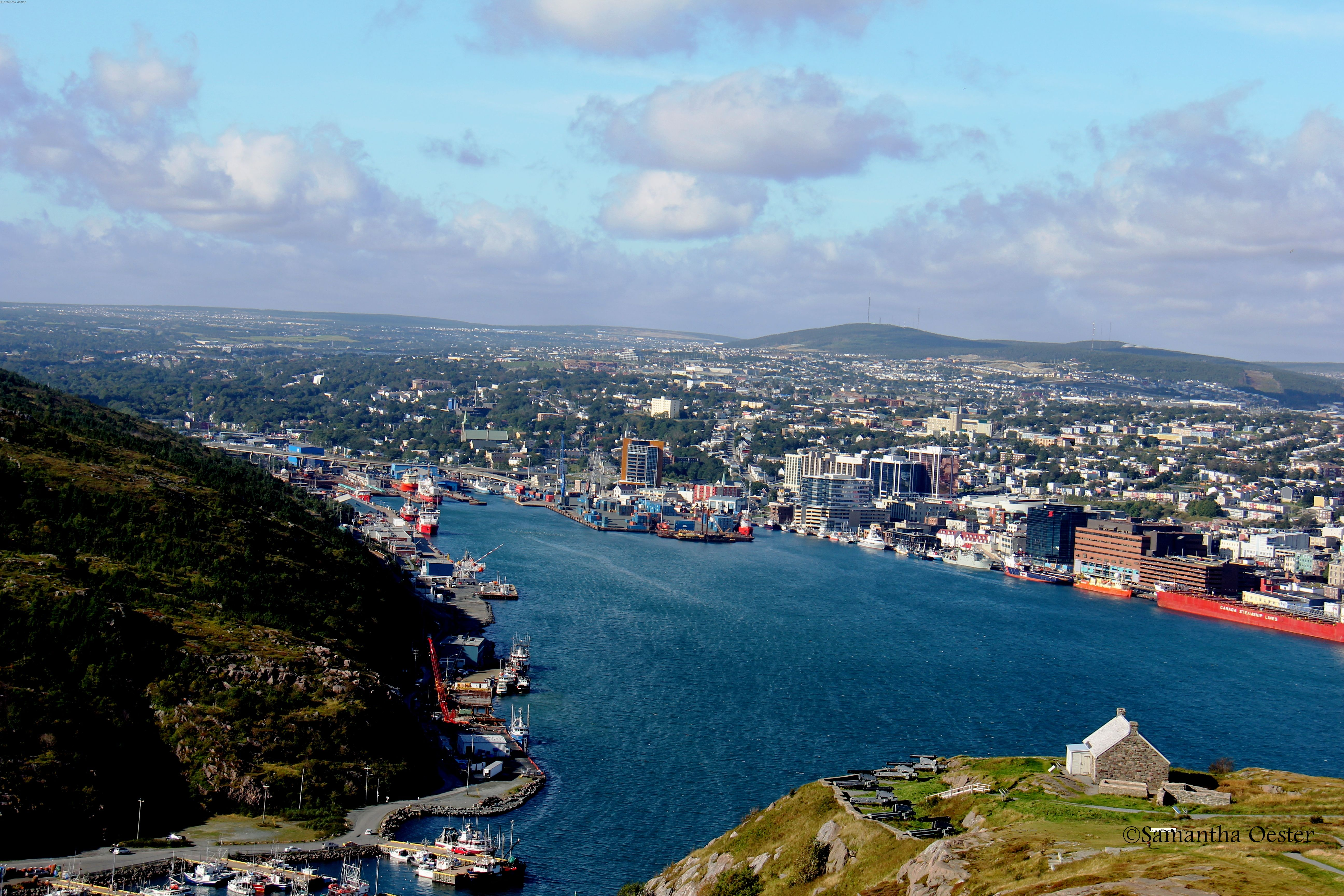 Photo View of St. John's, the capital of Newfoundland and Labrador, Canada