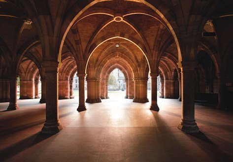 Photo The 'cloisters' at the University of Glasgow