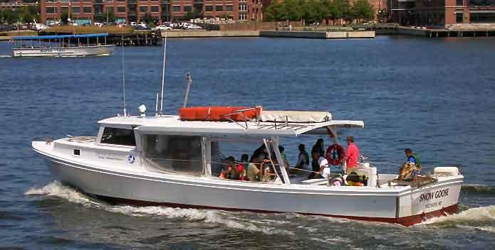 Photo Baltimore Harbor Program - Participants aboard the Snow Goose