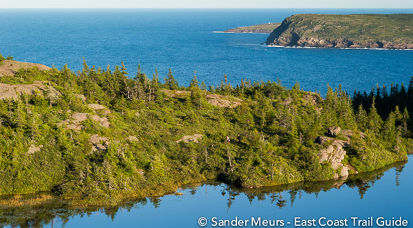 Photo View from east coast trail to Cape Spear in far distance