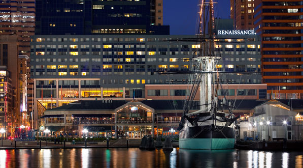 Photo Renaissance Baltimore Harborplace is the ICCB HQ hotel. Free in-room WiFi. $189+ tax