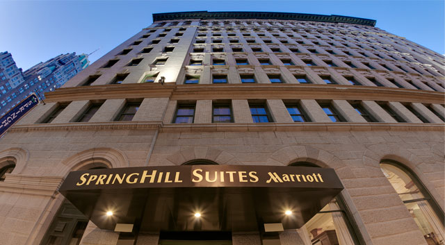 Photo Springhill Suites offers free in-room WiFi & a free (hot) breakfast buffet. $175+ tax