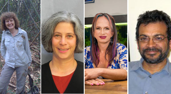 Photo Plenary speakers EJ Milner-Gulland, Robin Chazdon, Brigitte Baptiste, & Arun Agrawal