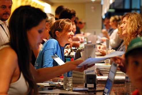 Photo ICCB-ECCB 2015 Registration Desk