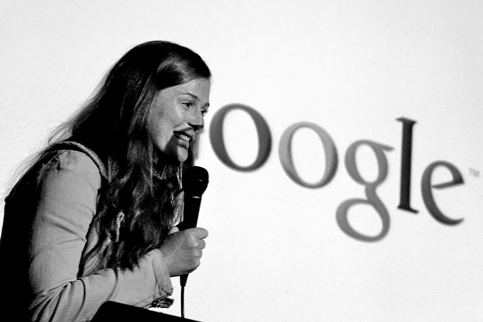Photo Amber Jackson on using Google Ocean to share conservation stories at ScioOceans 2013
