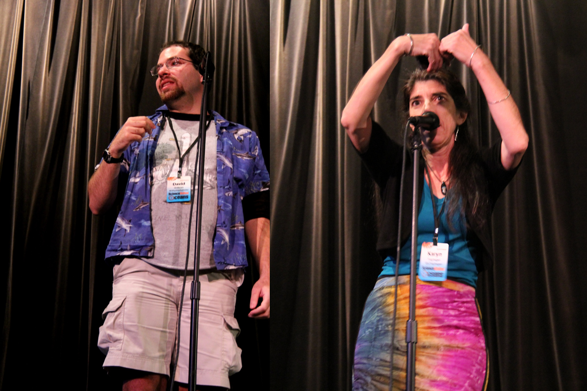 Photo David Shiffman & Karyn Traphagen, OceansOnline Committee, in ScioOceans StoryCollider
