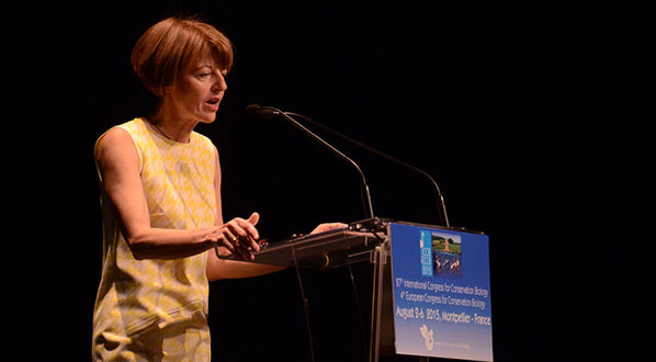 Photo IPBES Secretariat Anne Larigauderie at ICCB 2015.