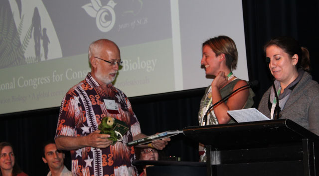 Photo Ayesha Tullock (center) won the Student Awards Competition at ICCB2011 in New Zealand