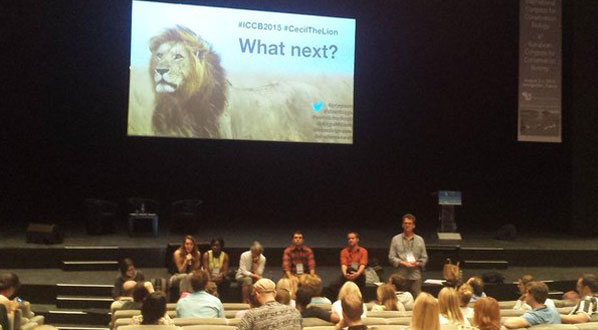 Photo Hundreds of photos were tweeted at ICCB '15, including this pop up talk on Cecil the