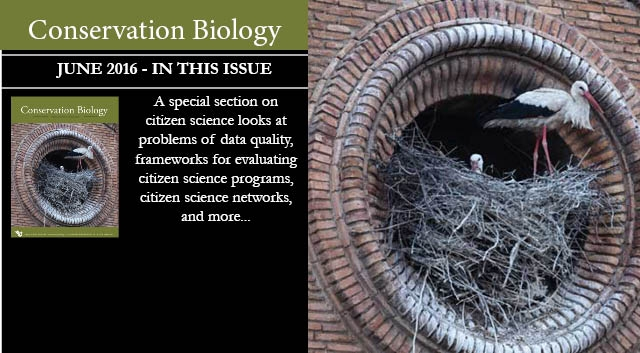 Citizen science is the focus of the June issue of Conservation Biology