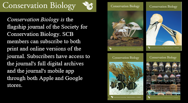 The April issue of Conservation Biology is now available