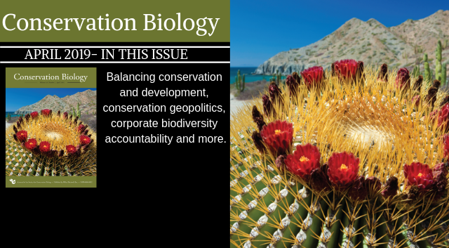 The April issue of Conservation Biology is now available!