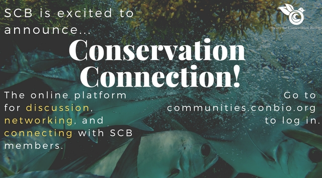 SCB is excited to announce its new communication platform: Conservation Connection
