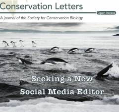 photo for Conservation Letters Seeking a New Social Media Editor
