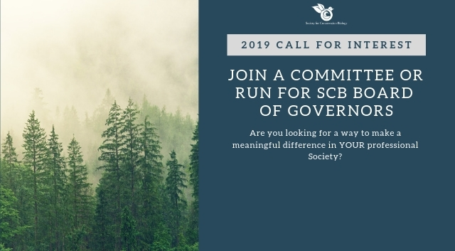 2019 Call for Interest: Run for SCB BoG or Join a Committee