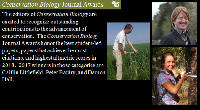Conservation Biology Journal Awards
