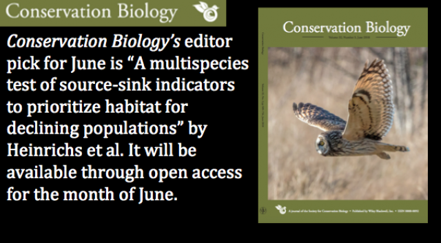 The June issue of Conservation Biology is now available