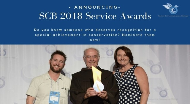 SCB announces 2018 Service Award Nominations